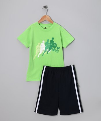 Lime 'ATR' Tee & Shorts - Toddler