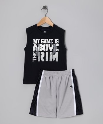 Blue 'My Game Is' Tank & Shorts - Toddler & Boys