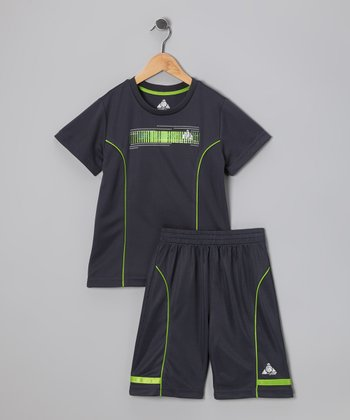 Gray Performance Tee & Shorts - Infant & Toddler