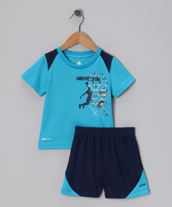 Blue Slam Dunk Performance Tee & Shorts - Infant & Toddler