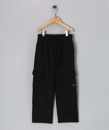 Above The Rim Black Cargo Pants - Kids