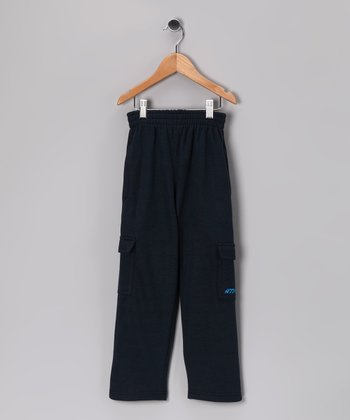 Above The Rim Navy Cargo Pants - Kids