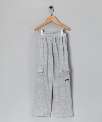 Above The Rim Heather Gray Cargo Pants - Kids