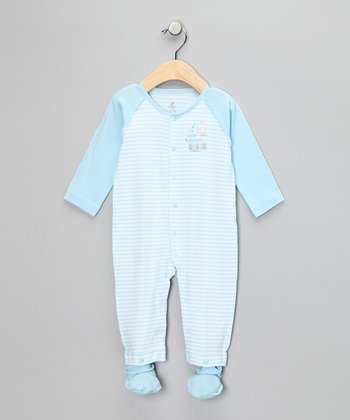 absorba Blue Stripe Playsuit & Booties