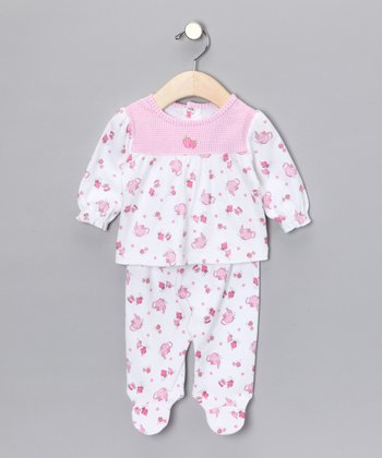 Pink Tea Party Top & Footie Pants - Infant
