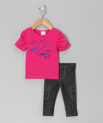 Pink Bow Tunic & Leggings - Infant & Toddler