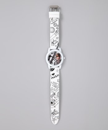White 'I Love Music' Justin Bieber Watch