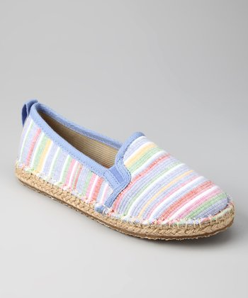 Blue Multi Wash Espie Flat - Women