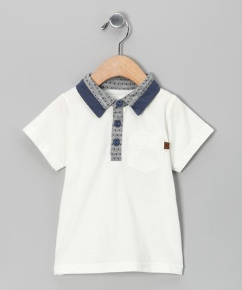 White Gary Polo - Infant & Toddler