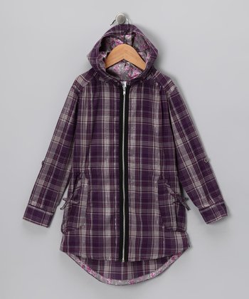 Purple Plaid Jacket - Toddler & Girls