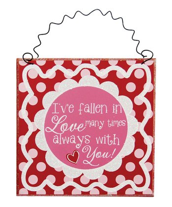 Red & Pink 'Fallen in Love' Wall Art