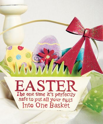 Easter Egg Basket Figurine