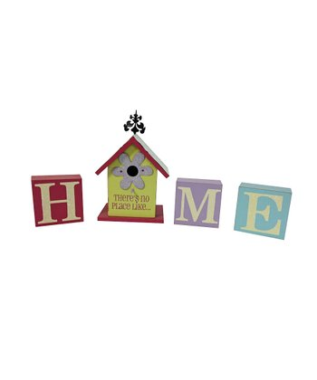 'Home' Birdhouse Block Set