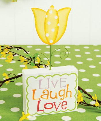 'Live Laugh Love' Tulip Figurine