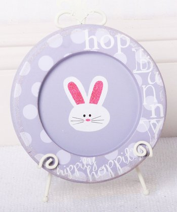 Lavender Bunny Decorative Plate