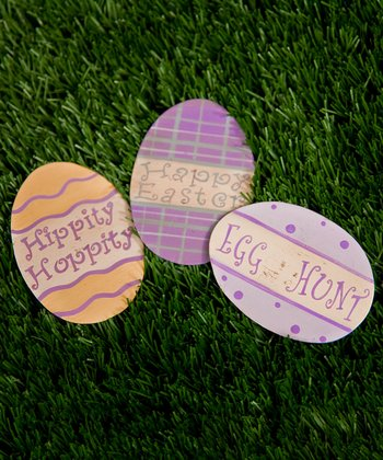 Pink & Purple Egg Magnet Set