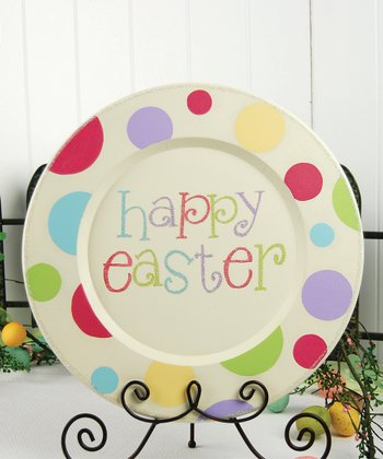 Cream 'Happy Easter' Decorative Plate