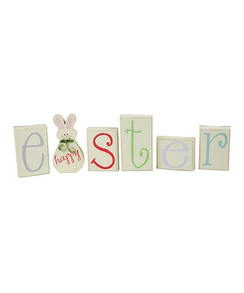 Pastel 'Happy Easter' Block Set