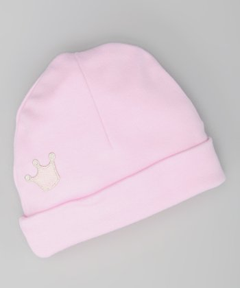 White Royalty Beanie - Infant