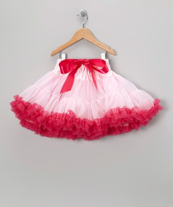 Pink & Raspberry Petite Pettiskirt - Infant, Toddler & Girls
