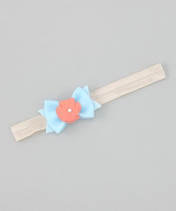 Allison Flower Bow Headband