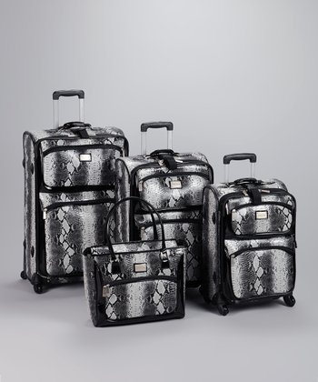 Black Snake 4-Piece Luggage Set