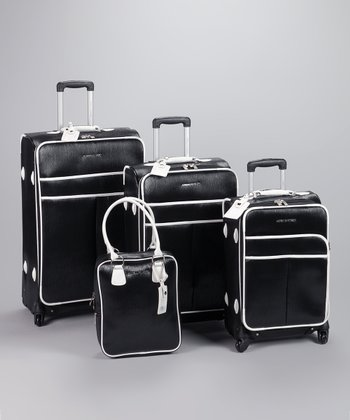 Black & White 4-Piece Luggage Set