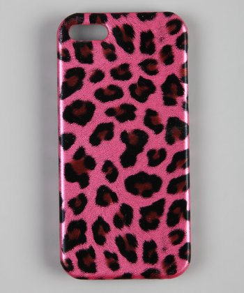 Pink Leopard Snap-On Case for iPhone 5
