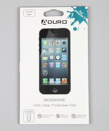 Ultra-Clear Membrane Screen Protector Set for iPhone 5