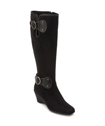 Black Wonderling Wide Width and Wide Calf Boot
