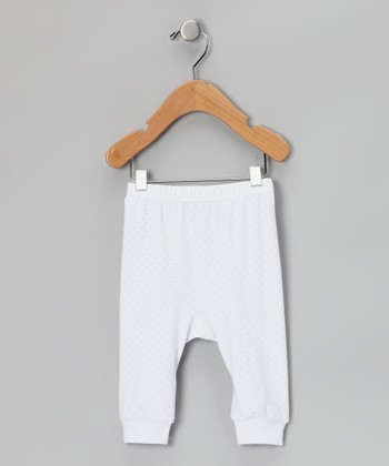 Blue Pin Dot Cuff Pants - Infant