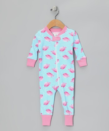 Pink Swellfish Organic Playsuit - Infant