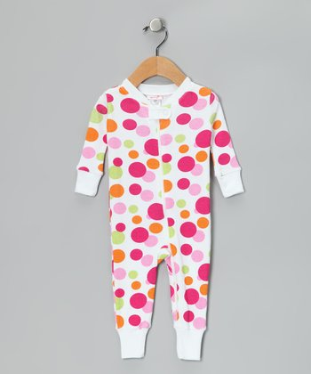 Magenta Polka Dot Organic Playsuit - Infant