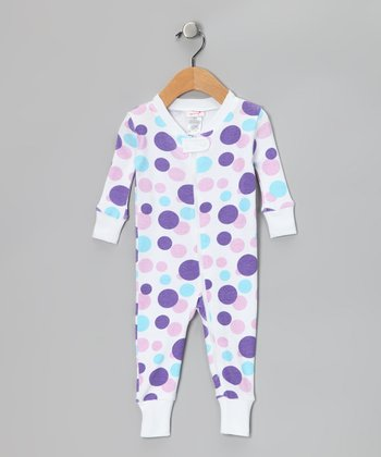 Lavender Polka Dot Organic Playsuit - Infant