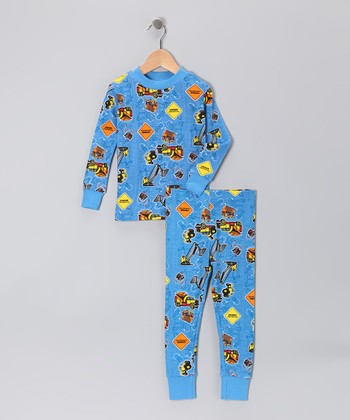 Sky Construction Organic Pajama Set - Toddler & Boys