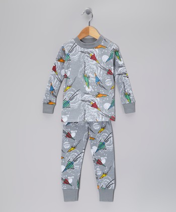 Gray Space Organic Pajama Set - Toddler & Boys