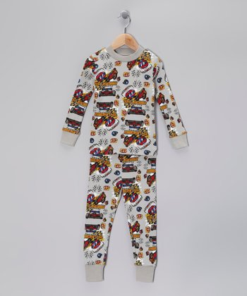 Silver Touch 'Thunder' Organic Pajama Set - Toddler & Boys