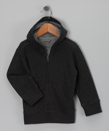 Charcoal Zip-Up Hoodie - Toddler & Kids