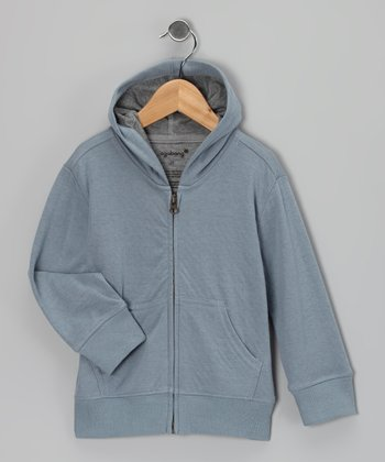Light Blue Zip-Up Hoodie - Toddler & Kids