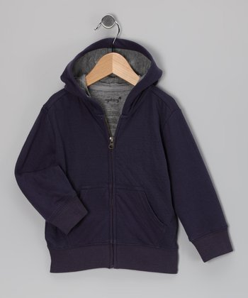 Purple Zip-Up Hoodie - Toddler & Kids