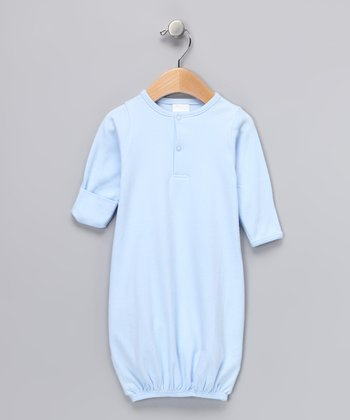 Blue Henley Gown - Infant