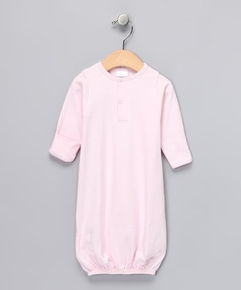 Pink Henley Gown - Infant