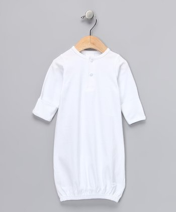 White Henley Gown - Infant