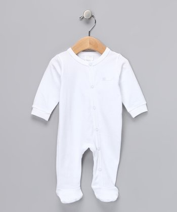 White Footie - Infant