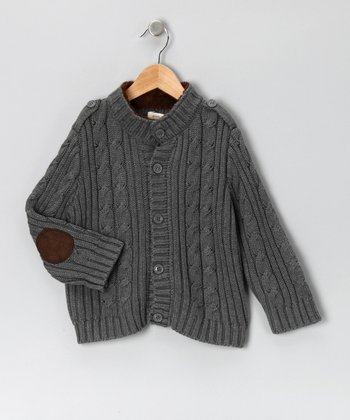 Gray Cable-Knit Cardigan - Infant & Boys