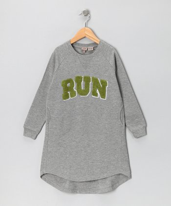 New York-Designed Gray 'Run' Tunic - Toddler & Girls
