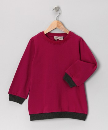 Pink & Gray Sweatshirt - Toddler & Girls