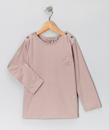 Mauve Pocket Tee - Infant, Toddler & Girls