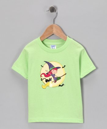 Key Lime Little Witch Tee - Girls