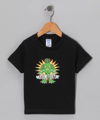 Black 'Creature Feature' Tee - Toddler & Kids